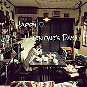 いつもいいね♡ありがとうございます♡/バレンタインチョコ作り/バレンタインデー❤/娘がチョコ作ってます♡…などのインテリア実例