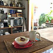 NO GREEN NO LIFE/キッチン雑貨/カウンター/カフェ風インテリア/手作りお菓子…などのインテリア実例