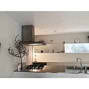 枝もの/木蓮/暮らしを楽しむ/シンプルインテリア/注文住宅/塗り壁…などのインテリア実例