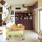 カフェ風/セリアリメイク/おうちカフェ/セリア/ダイソー/手作り…などのインテリア実例