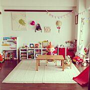 北欧/ままごとキッチン/おもちゃ/絵本棚/リサラーソン/ミイ…などのインテリア実例