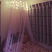 天蓋ベッドのインテリア実例写真