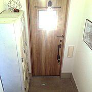ドア/Sign/建築デザイン事務所/無印良品/狭小住宅/アイアン…などのインテリア実例