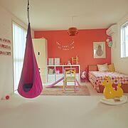 ハンギングチェア/ロディ/子供部屋/赤ちゃんのいる暮らし/IKEA/こどもと暮らす。…などのインテリア実例