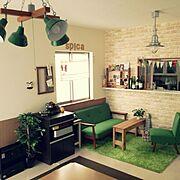 カリモク60/カリモクソファー/アンティーク/時計/照明/IKEA…などのインテリア実例
