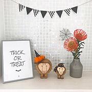 玄関ニッチ/名古屋モザイクタイル/モザイクタイル/リサラーソン/HALLOWEEN/Halloween飾り…などのインテリア実例