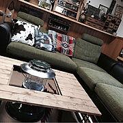 ペンドルトン/DIY/キャンプ/アウトドア/アウトドアインテリア/テーブル…などのインテリア実例