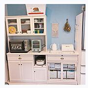 無印良品/模様替え/雑貨/ダイソー/DIY/キッチンカウンター…などのインテリア実例