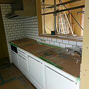 タカラスタンダード/サブウェイタイル/新築中/Kitchen…などのインテリア実例