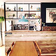 DIYクリエイター/ブルックリン風/リビングはDIYレシピ集になりました。/カフェ風インテリア…などに関連する他の写真