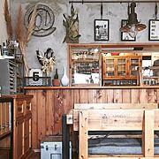My Desk/見せる収納/建て売り/IKEA/カフェ風インテリア/セルフリノベーション…などのインテリア実例