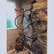 サンゲツ/自転車/イベント参加中/玄関奥収納/土間収納/GIOS…などのインテリア実例