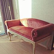赤いソファー/息子の部屋/高校生/子供部屋/小さいお家/3LDK…などのインテリア実例