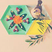 プレートアレンジ/食器/オリーブ/ローリエ/花/HAY…などのインテリア実例