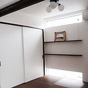 Bedroom/ヴィンテージシック/塩系インテリアの会/ホワイト/ヴィンテージ/アイアン…などのインテリア実例