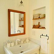 フェイクグリーン/100均/セリア/ドライヤー収納/洗面所/Bathroom…などに関連する他の写真