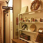 リメイク/手作り/飾り棚/雑貨/カフェ/賃貸…などのインテリア実例