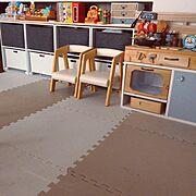 子ども/おもちゃ/収納/インボックス/ニトリ/おもちゃ収納…などのインテリア実例