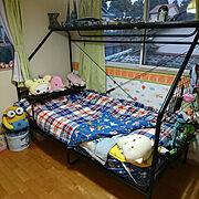 Bedroom/子供部屋/インフルの疑い…/人をダメにするベッド/スターウォーズ好き/こどもと暮らす。…などのインテリア実例