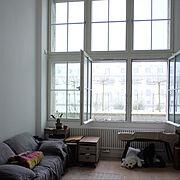 IKEA/ソファ/ソファベッド/シンプルインテリア/Instagram: jucom.de/吹き抜け…などのインテリア実例