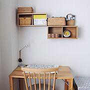 無印良品 壁に付けられる家具/momo natural/モモナチュラル/壁に付けられる家具…などのインテリア実例