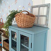 いなざうるす屋さん/かご収納/お菓子入れ/ウィンドウフレーム/My Shelf…などのインテリア実例