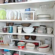 食器収納/収納/ノリタケ食器/ノリタケ/ダイソー/セリア…などのインテリア実例