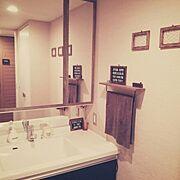 ダイソー/バスロールサイン風/セリア/リメイク/Bathroom…などのインテリア実例