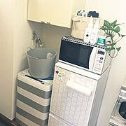 新生活/見せる収納/一人暮らし/シンプル収納 白/ズボラDIY/観葉植物のある部屋…などのインテリア実例