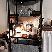オープン棚のインテリア実例写真