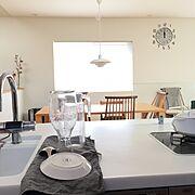 パナソニックキッチン/ルイスポールセン/飛騨家具/二階リビング/シンプルな暮らし/こどもと暮らす。…などのインテリア実例