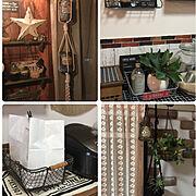カーテン/ダイニングテーブル/リメイクシート/セリア/ウォールステッカー/冷蔵庫…などに関連する他の写真