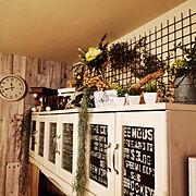 ガーデンフェンス/ドライフラワー/手作り/雑貨/フェイクグリーン/いなざうるす屋…などのインテリア実例