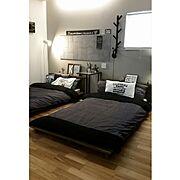 Bedroom/LIXIL/LIXILエコカラット/LIXILエコカラットパネル/アクセントクロス…などのインテリア実例