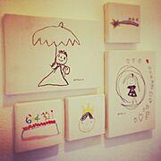 リメイク/子どものお絵かき/子ども部屋  /DIY/壁かけ/ウォールアート…などのインテリア実例