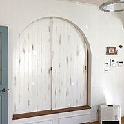 ドアは開けっ放しのインテリア実例写真