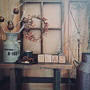 サンキライ/ダイソー/100均雑貨/クリスマスディスプレイ/プチプラ雑貨/クリスマス雑貨…などのインテリア実例