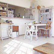 リペイント/クッションフロア/IKEA/原状回復ок/DIY/賃貸…などのインテリア実例