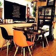 イームズ/ガラス天板/テーブル/ダイニングテーブル/DIY/Lounge…などのインテリア実例