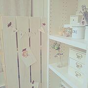 ホーロー製品/ポストカード/お母さんが作ってくれた♡/ガーランド/My Shelf…などのインテリア実例