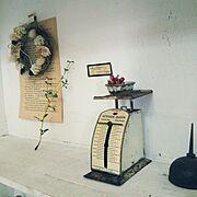 アンティークスケール/アンティーク/古いものが好き♡/My Shelf…などのインテリア実例