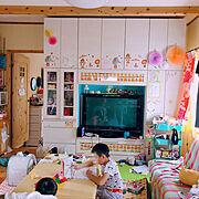 壁面収納/ハンドメイド好き/ディズニーランド/ディズニーシー/IKEA/ミッキー…などのインテリア実例