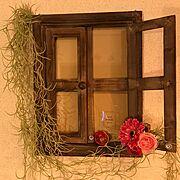 ヴィンテージ/レトロ/窓枠風/On Walls…などのインテリア実例