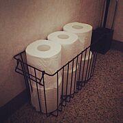 トイレットペーパーの収納/Bathroom…などのインテリア実例