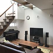 関家具/10000人の暮らし/ピアノコーナー/吹き抜けのある家/みせ梁/リビング階段…などのインテリア実例