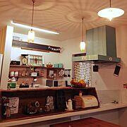 ペイント/換気扇フード/Kitchen…などのインテリア実例