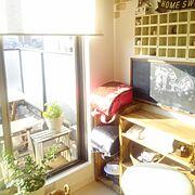 手作り黒板/ダイソー/セリア/キャンドゥ/DIY棚/My Shelf…などのインテリア実例