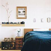 壁に付けられる家具/賃貸/hasselblad/植物/ドライフラワー/trackfurniture…などのインテリア実例
