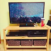テレビ周りの配線のインテリア実例写真