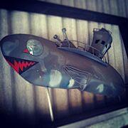 潜水艦/クジラ/アイアン/On Walls…などのインテリア実例